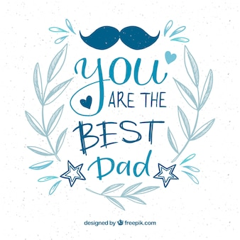 Priorità bassa felice di festa del papà con lettering