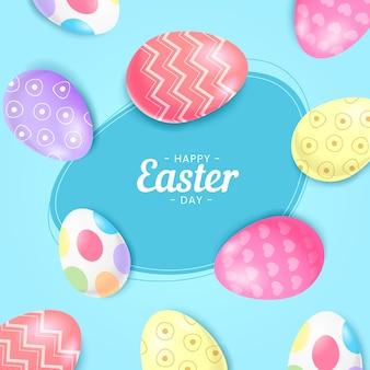 Priorità bassa felice realistica dell'uovo di giorno di pasqua