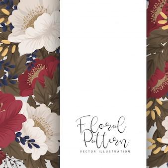 Priorità bassa floreale del bordo - fiori rossi