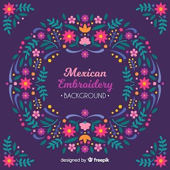 Priorità bassa floreale del ricamo messicano