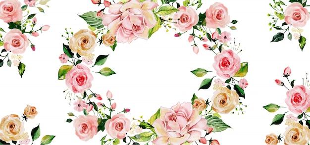 Priorità bassa floreale dell'acquerello di beautyful