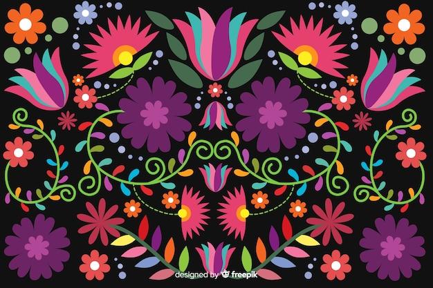 Priorità bassa floreale messicana del ricamo