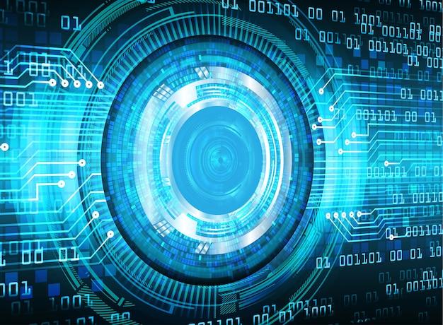 Priorità bassa futura di tecnologia del circuito cyber dell'occhio azzurro