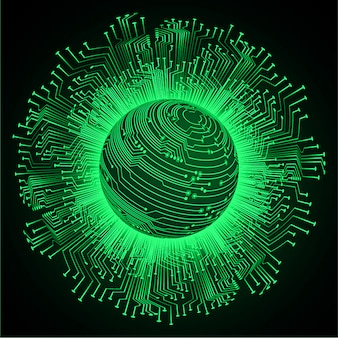 Priorità bassa futura di tecnologia del circuito cyber verde del mondo