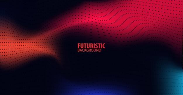 Priorità bassa futuristica astratta di tecnologia con luce rossa