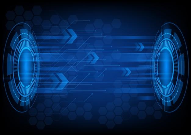 Priorità bassa futuristica astratta di tecnologia del cerchio