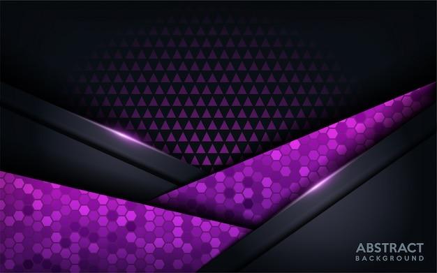 Priorità bassa futuristica moderna astratta viola. sfondo scuro moderno