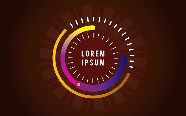 Priorità bassa geometrica del cerchio moderno
