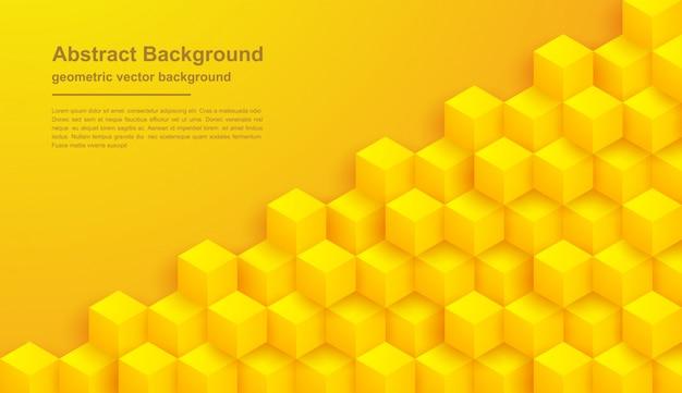 Priorità bassa gialla astratta di struttura con le figure di esagono.