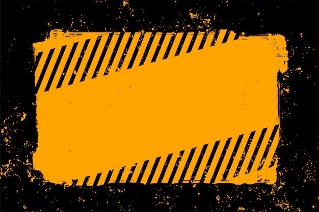 Priorità bassa gialla e nera astratta di stile del grunge
