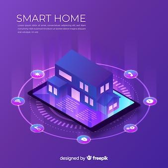 Priorità bassa isometrica casa gradiente intelligente