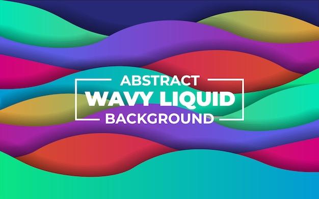 Priorità bassa liquida wavy variopinta astratta