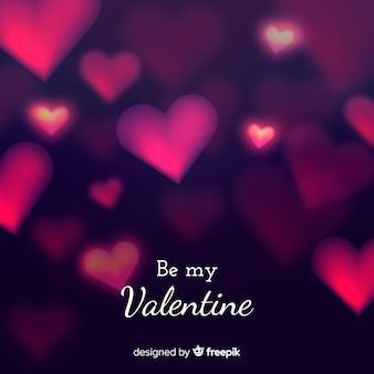 Priorità bassa lucida di san valentino dei cuori
