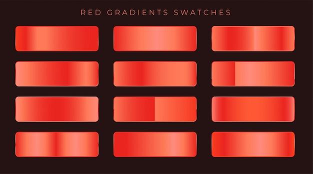 Priorità bassa lucida rossa brillante gradienti