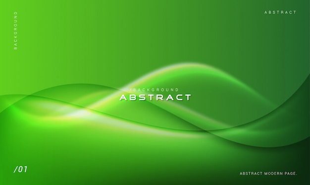 Priorità bassa moderna astratta verde delle onde