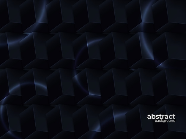 Priorità bassa nera realistica della decorazione stratificata 3d con stile geometrico