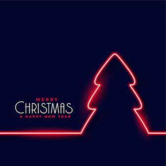 Priorità bassa rossa dell'albero di Natale al neon