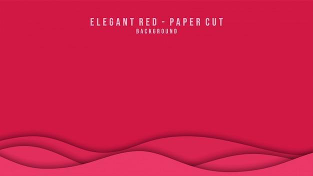 Priorità bassa rossa moderna del taglio della carta