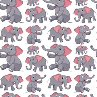 Priorità bassa senza giunte dell'elefante sveglio