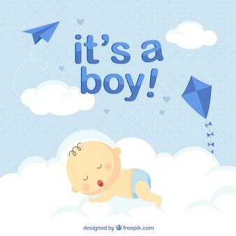Priorità bassa sveglia del neonato in stile piano