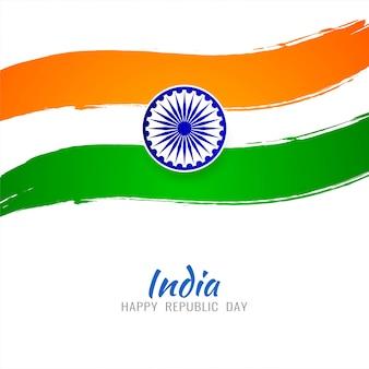 Priorità bassa tricolore di tema astratto bandiera indiana