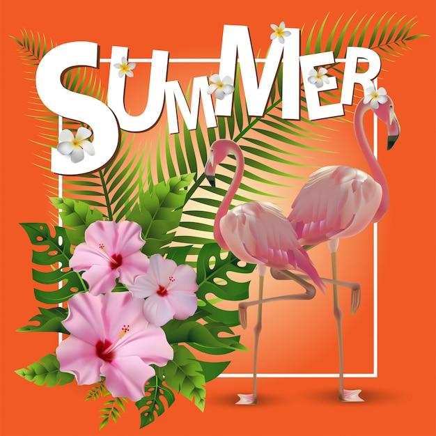 Priorità bassa tropicale di estate alla moda