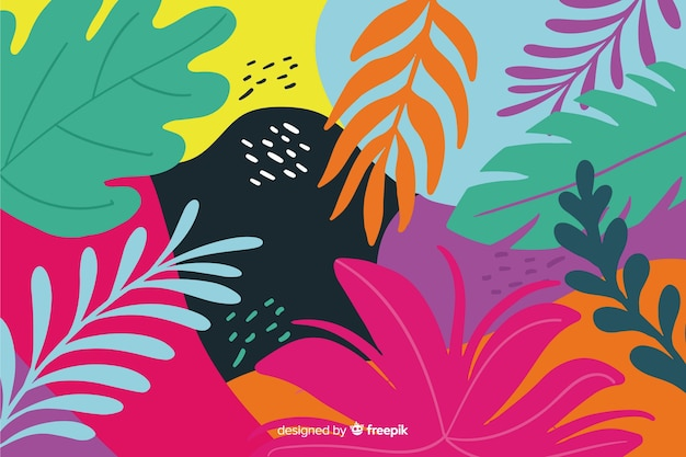 Priorità bassa tropicale disegnata a mano astratta
