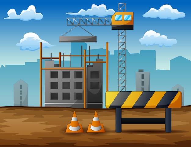 Processo di costruzione di case residenziali isolate
