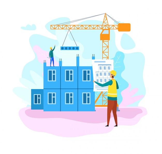 Processo di costruzione di una casa piatta