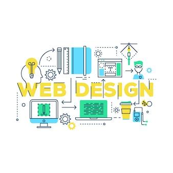 Processo di lavoro di web design