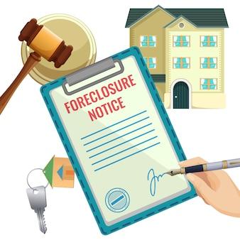 Processo di pignoramento documento di vendita