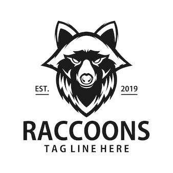 Procione design del logo vintage