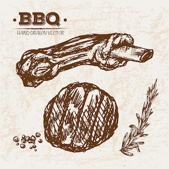 Prodotti a base di carne per barbecue a mano