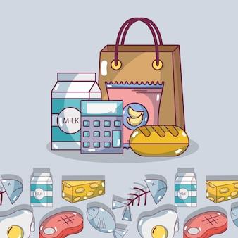 Prodotti alimentari del supermercato