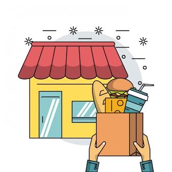 Prodotti alimentari e consegna