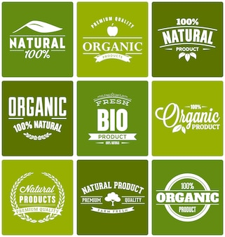 Prodotti biologici logo modelli