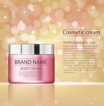 Prodotti cosmetici, crema per il trattamento del viso.