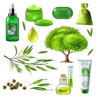 Prodotti del set dell'albero del tè