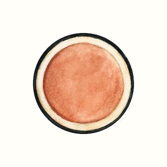 Prodotto cosmetico disegnato a mano isolato su sfondo bianco