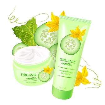 Prodotto di cosmetici biologici con fragole