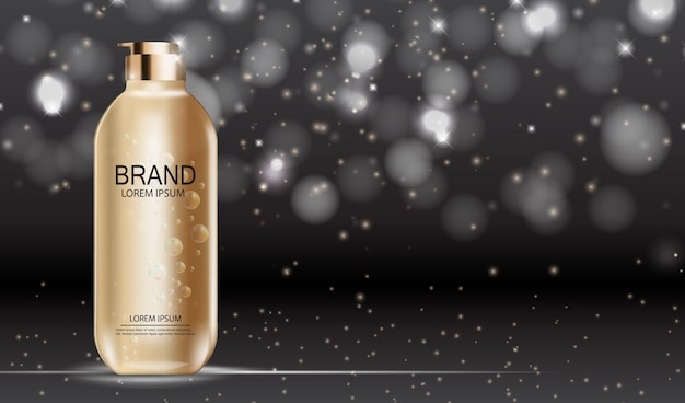 Prodotto di design cosmetics. realistico 3d