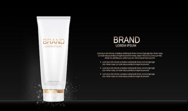 Prodotto di trucco di moda design cosmetici. 3d realistico