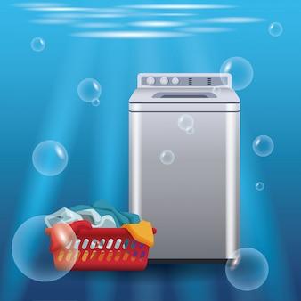Prodotto pubblicitario per sapone da bucato