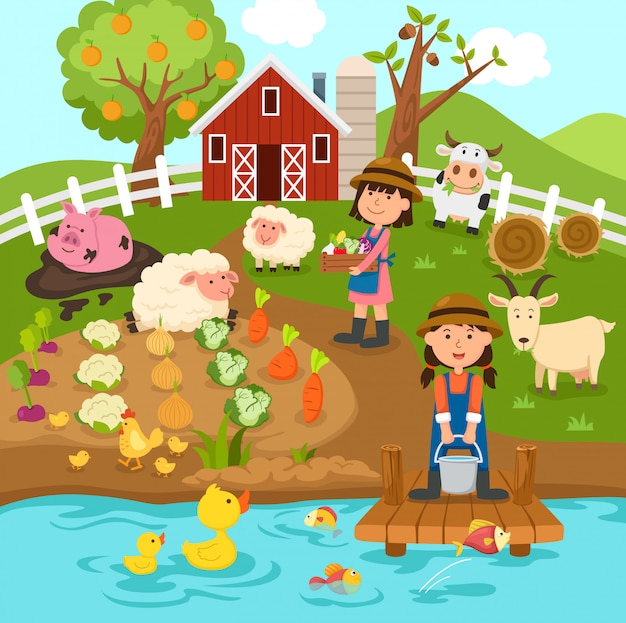 Produzione agricola paesaggio rurale