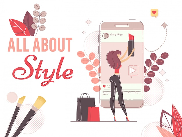 Produzione di instablog per cosmetici, moda e stile