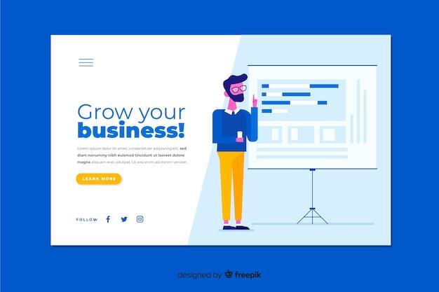 Professionale fai crescere la tua landing page aziendale
