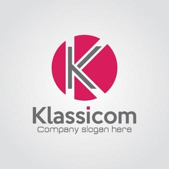 Professionale lettera k logo