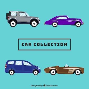 Profili di automobili pacchetto in design piatto