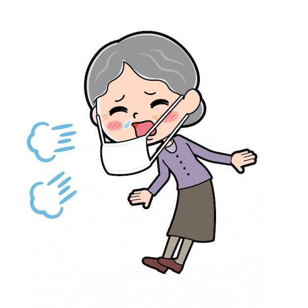 Profilo della nonna malata