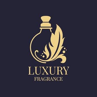 Profumo di lusso logo design modello